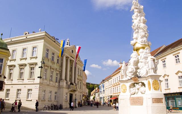 Der Badener Hauptplatz